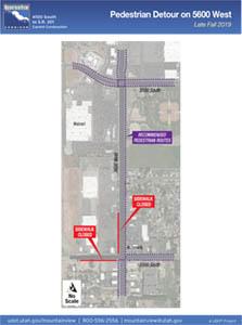 Pedestrian Detour on 5600 West Fall 2019