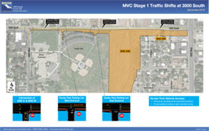 MVC Stage 1 Traffic Shifts at 3500 South
