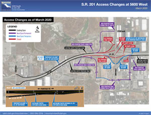 S.R. 201 Map showing access changes March 2020