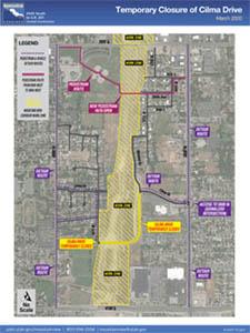 Cilma Drive Detour Map March 2020