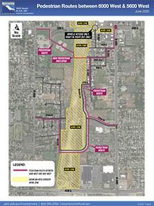 Pedestrian Routes between 6000 West & 5600 West - June 2020