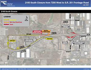2100 South Closure From 7200 West to S.R. 201 Frontage Road - July 2020