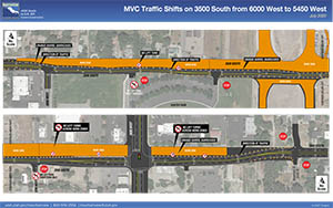 MVC Traffic Shifts on 3500 South from 6000 West to 5450 West