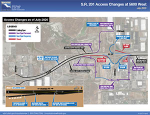 S.R. 201 Access Changes at 5600 West - July 2020