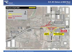 S.R. 201 Detour at 5600 West - July 2020