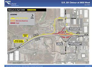 S.R. 201 Detour at 5600 West