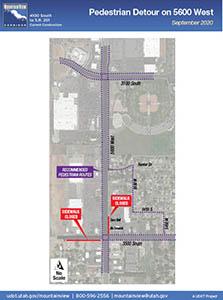 Pedestrian Detour on 5600 West