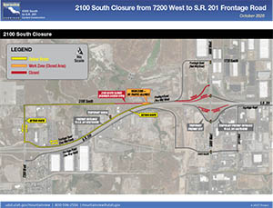 2100 South Closure from 7200 West to S.R. 201 Frontage Road - October 2020